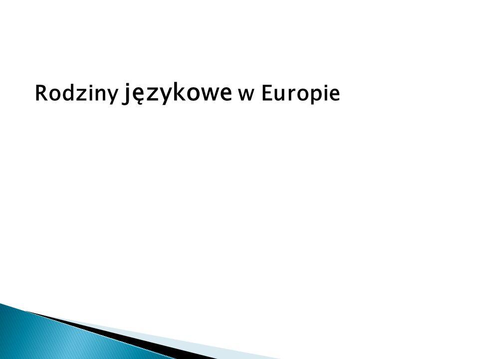 Rodziny językowe w Europie