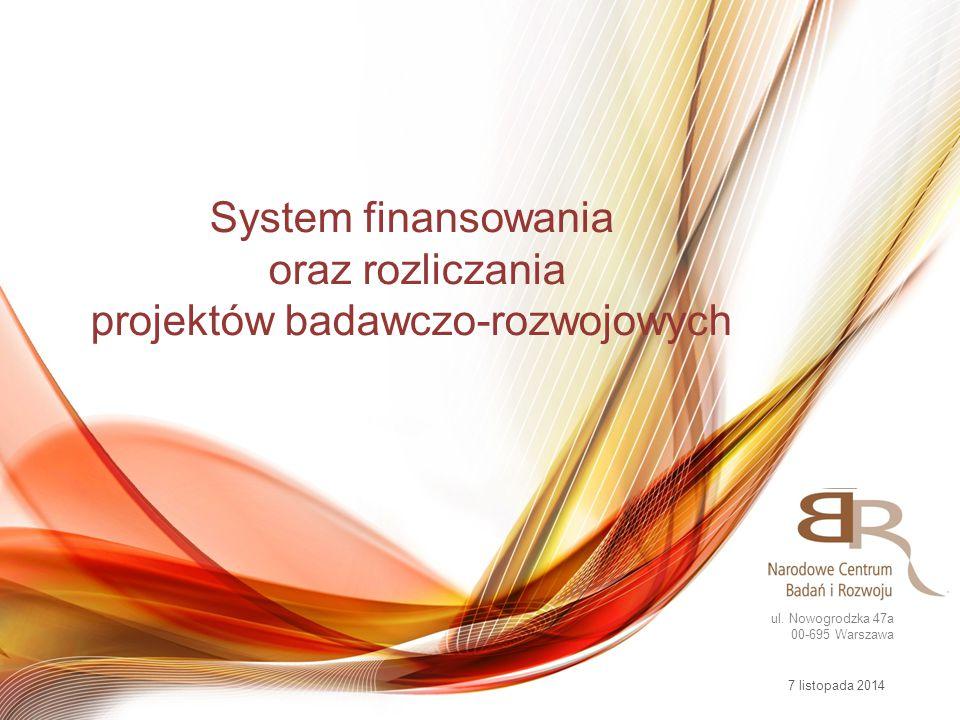 System finansowania oraz rozliczania projektów badawczo-rozwojowych