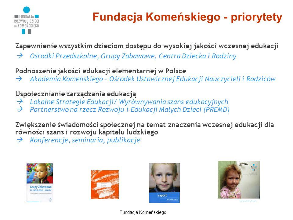 Fundacja Komeńskiego - priorytety