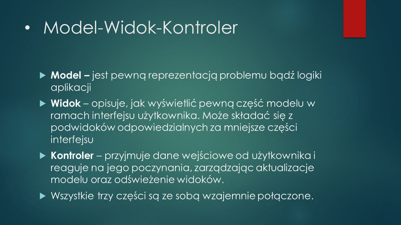 Model-Widok-Kontroler
