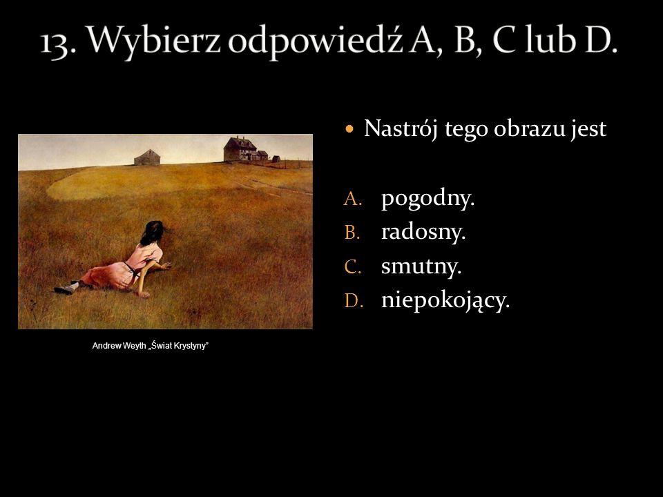 13. Wybierz odpowiedź A, B, C lub D.
