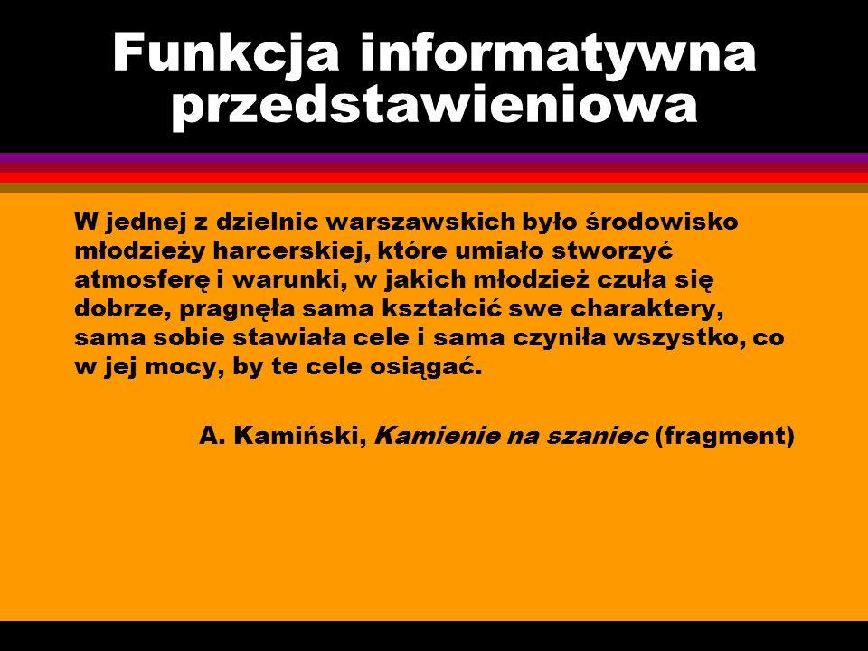 Funkcja informatywna przedstawieniowa