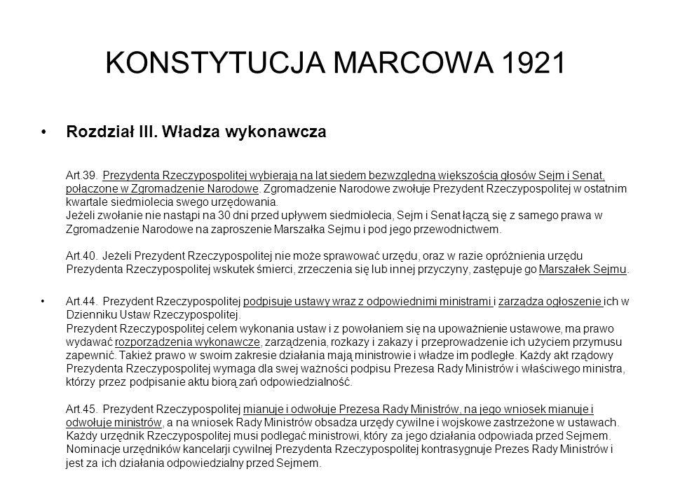KONSTYTUCJA MARCOWA 1921