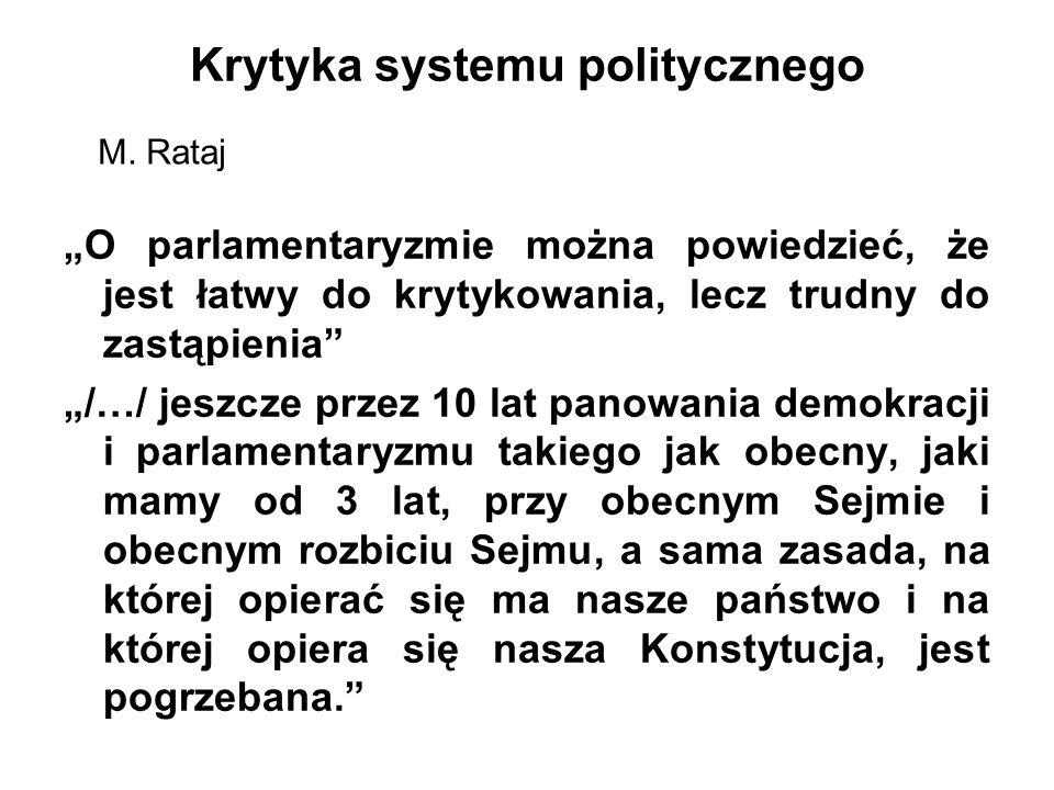 Krytyka systemu politycznego