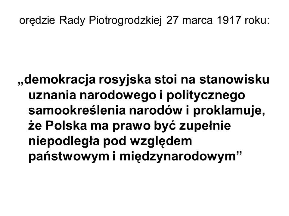 orędzie Rady Piotrogrodzkiej 27 marca 1917 roku: