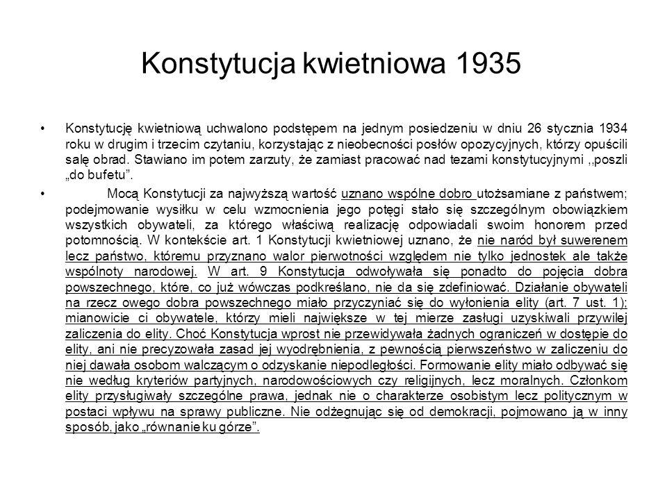 Konstytucja kwietniowa 1935