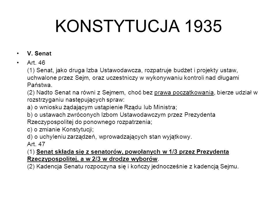KONSTYTUCJA 1935 V. Senat.