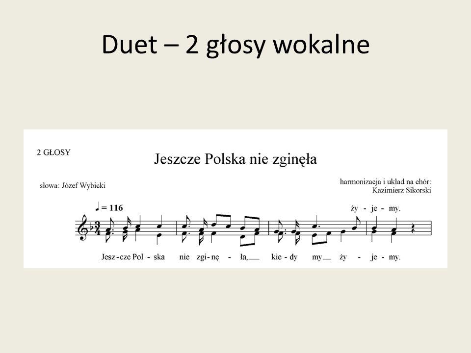 Duet – 2 głosy wokalne