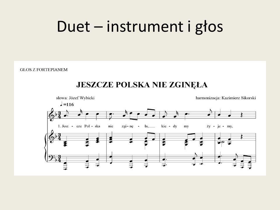 Duet – instrument i głos