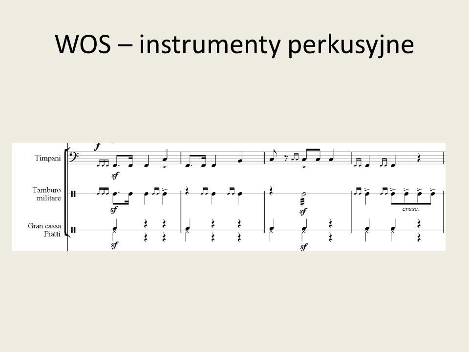WOS – instrumenty perkusyjne