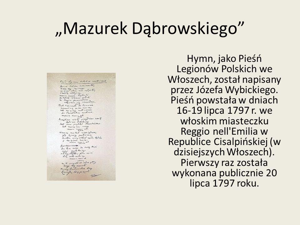 """""""Mazurek Dąbrowskiego"""