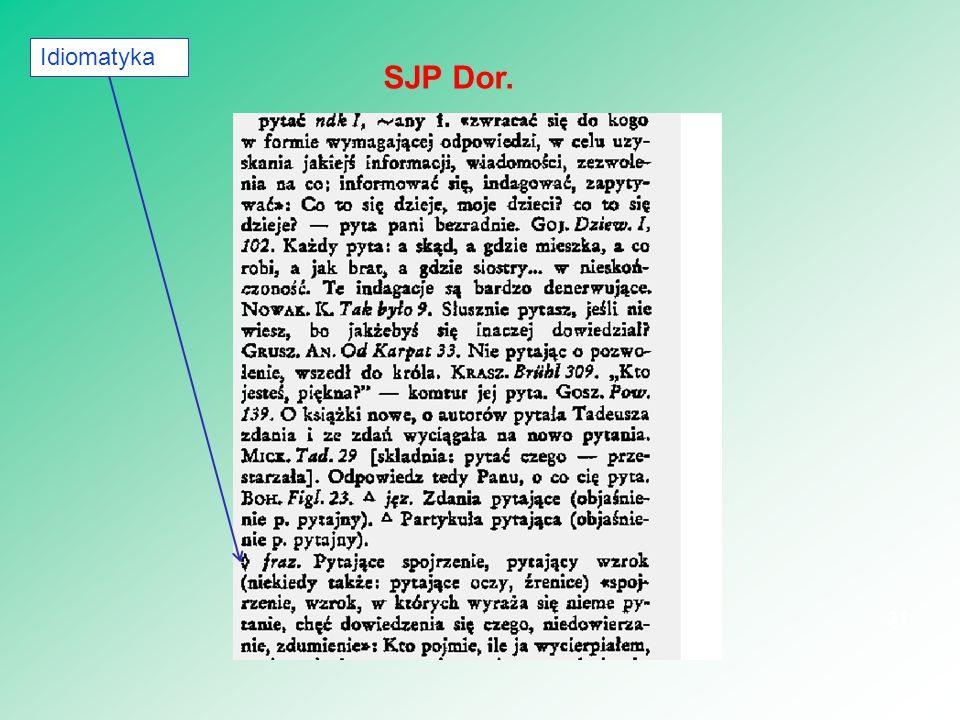 Idiomatyka SJP Dor.