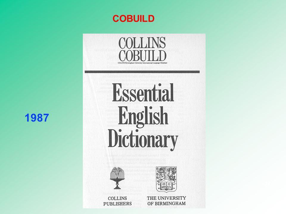 COBUILD 1987