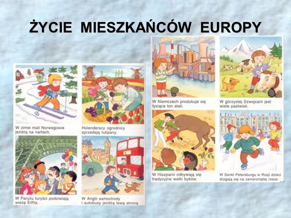 ŻYCIE MIESZKAŃCÓW EUROPY