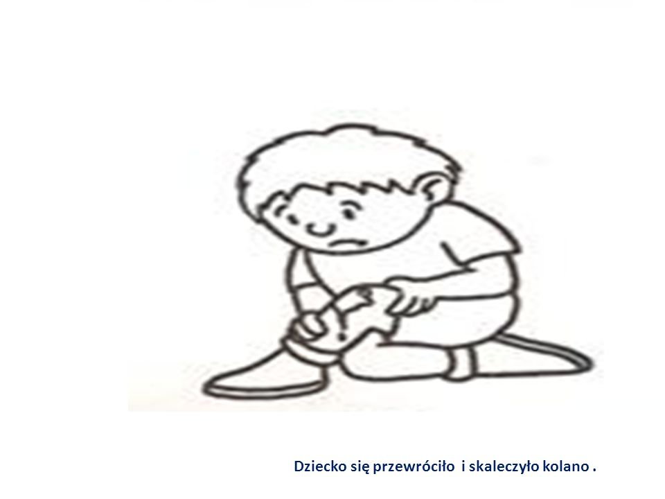 Dziecko się przewróciło i skaleczyło kolano .