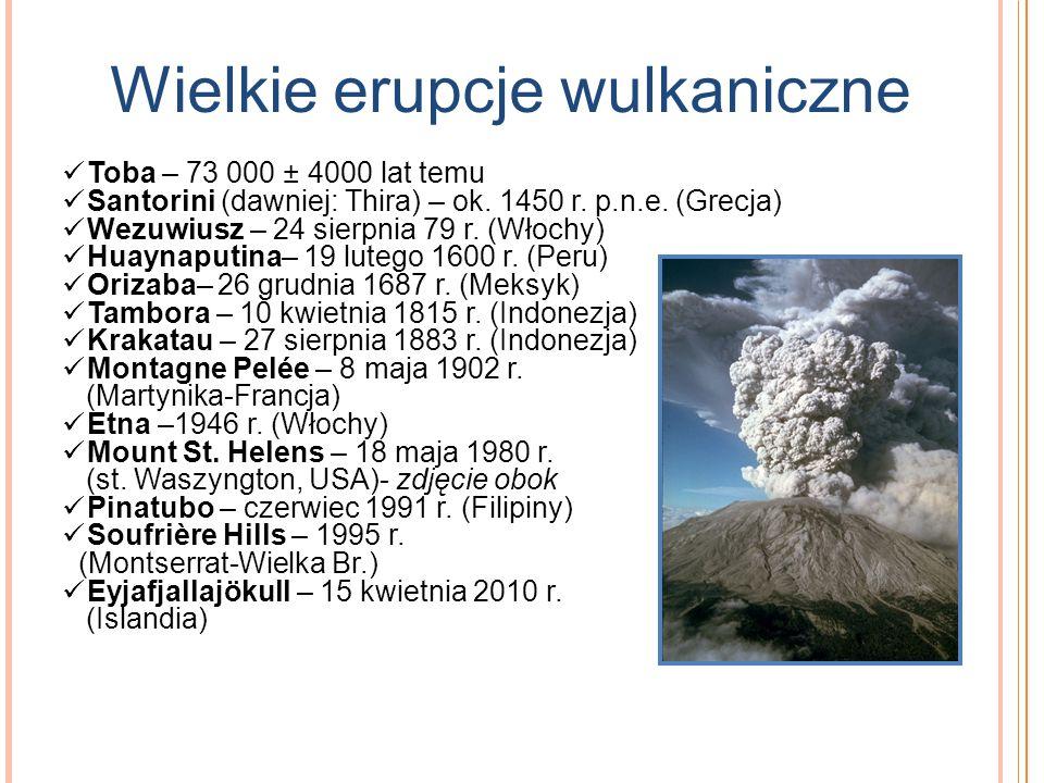 Wielkie erupcje wulkaniczne