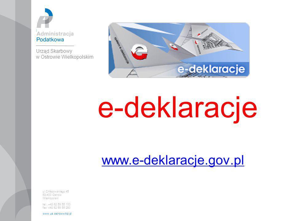 e-deklaracje www.e-deklaracje.gov.pl 1