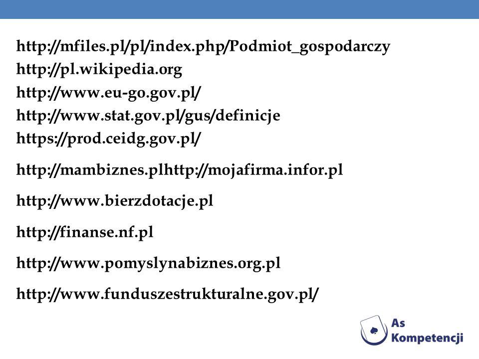 http://mfiles. pl/pl/index. php/Podmiot_gospodarczy http://pl