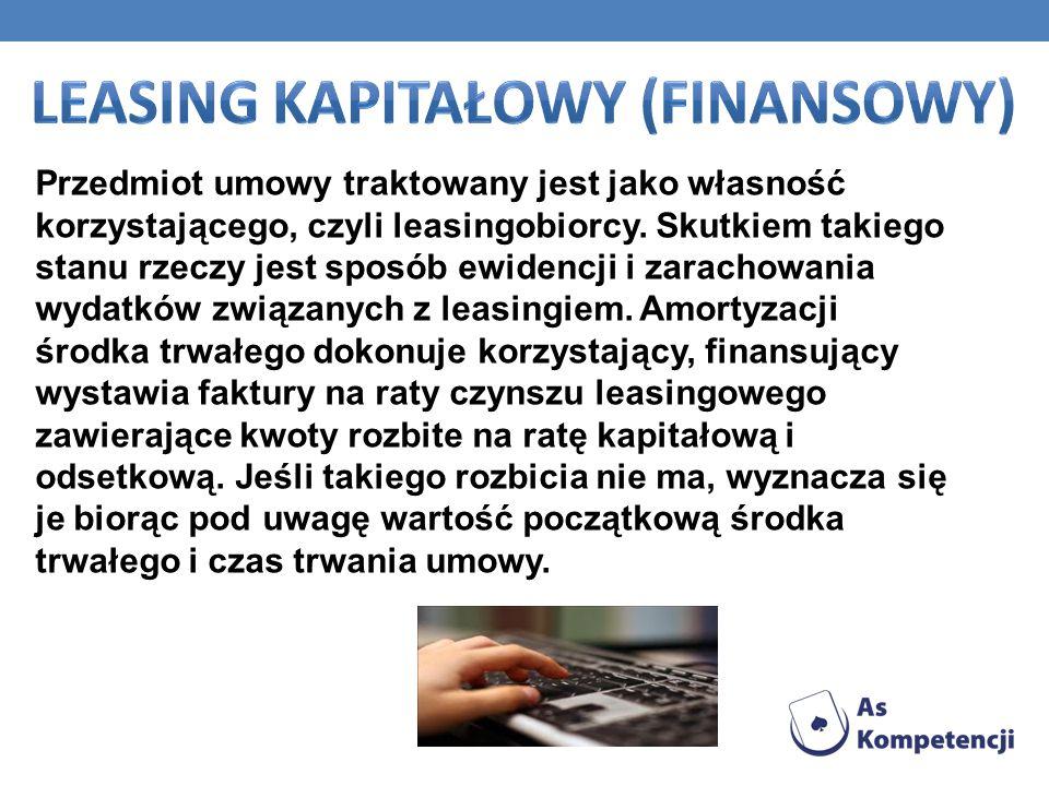 Leasing kapitałowy (finansowy)