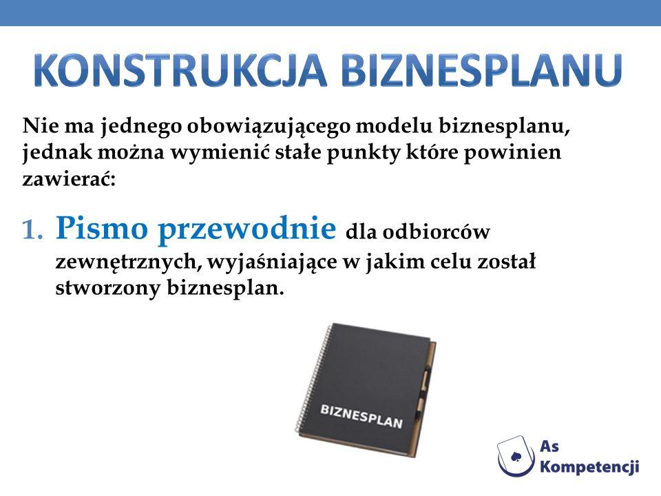Konstrukcja biznesplanu