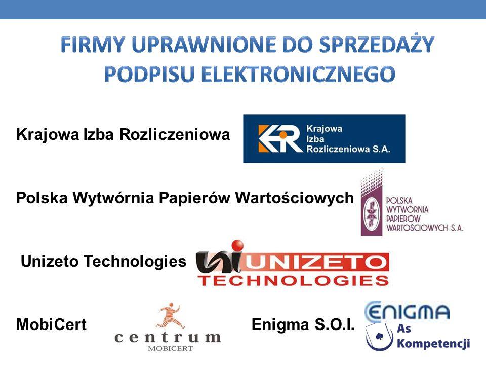 Firmy uprawnione do sprzedaży podpisu elektronicznego