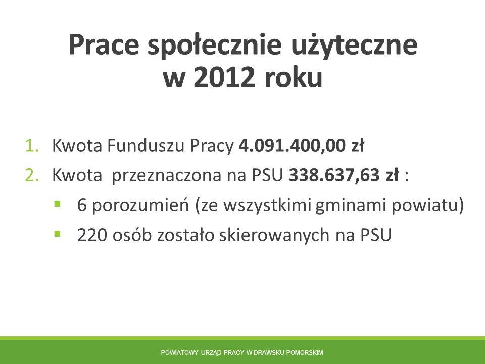 Prace społecznie użyteczne w 2012 roku