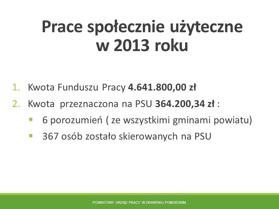 Prace społecznie użyteczne w 2013 roku