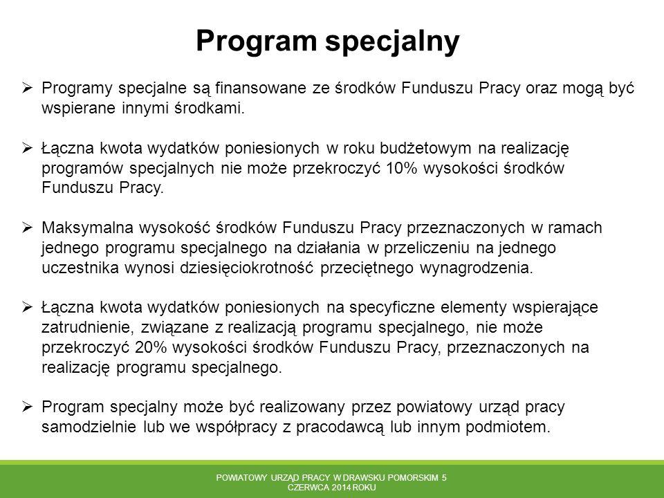 Powiatowy Urząd Pracy w Drawsku Pomorskim 5 czerwca 2014 roku