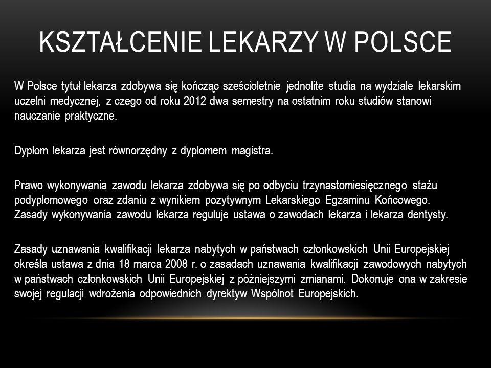 Kształcenie lekarzy w Polsce