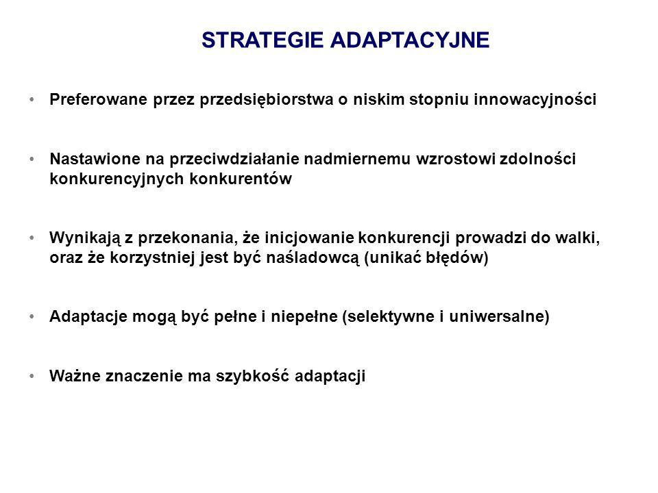 STRATEGIE ADAPTACYJNE