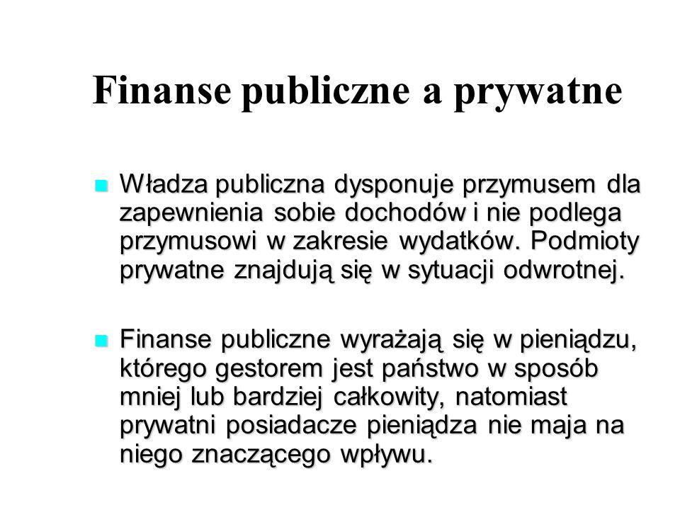 Finanse publiczne a prywatne
