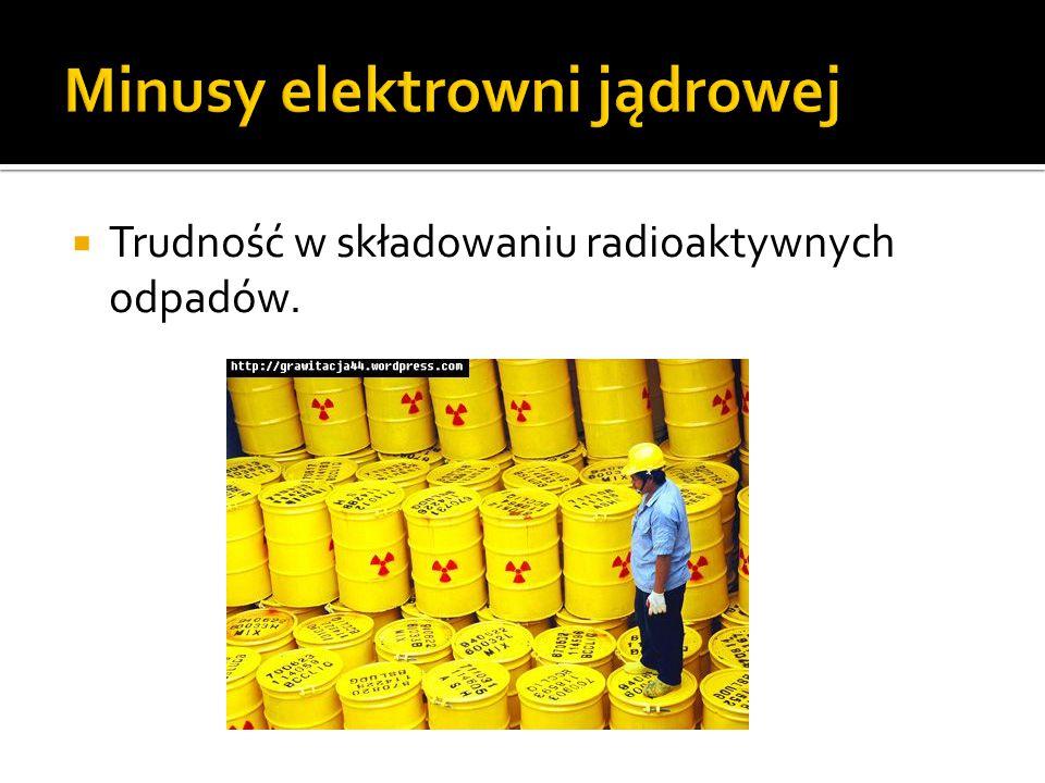 Minusy elektrowni jądrowej