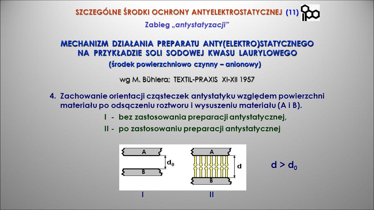 d > d0 MECHANIZM DZIAŁANIA PREPARATU ANTY(ELEKTRO)STATYCZNEGO