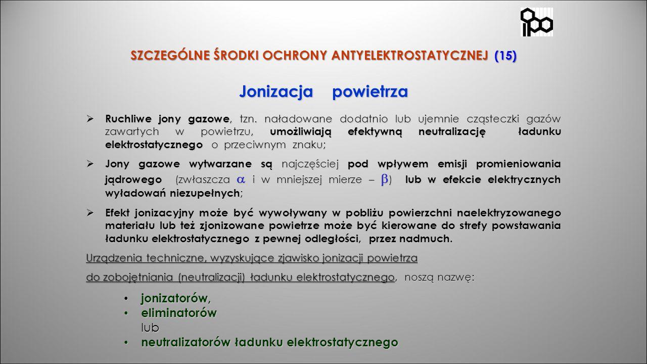 SZCZEGÓLNE ŚRODKI OCHRONY ANTYELEKTROSTATYCZNEJ (15)