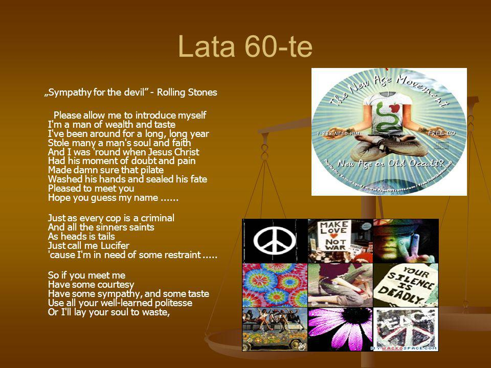 "Lata 60-te ""Sympathy for the devil - Rolling Stones"
