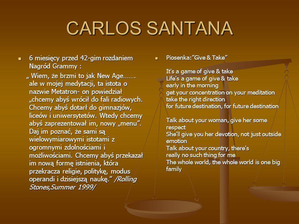 CARLOS SANTANA 6 miesięcy przed 42-gim rozdaniem Nagród Grammy :
