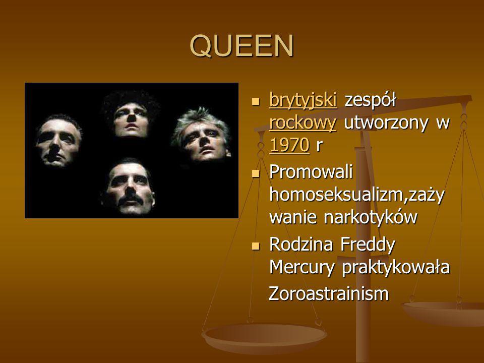 QUEEN brytyjski zespół rockowy utworzony w 1970 r
