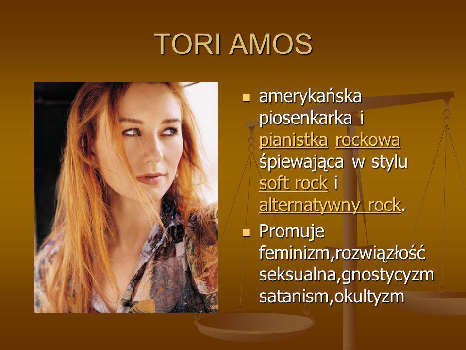 TORI AMOS amerykańska piosenkarka i pianistka rockowa śpiewająca w stylu soft rock i alternatywny rock.