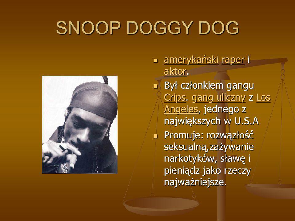 SNOOP DOGGY DOG amerykański raper i aktor.