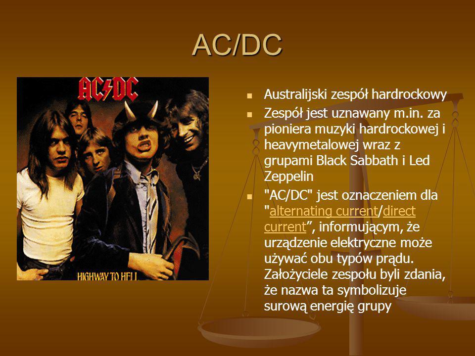 AC/DC Australijski zespół hardrockowy