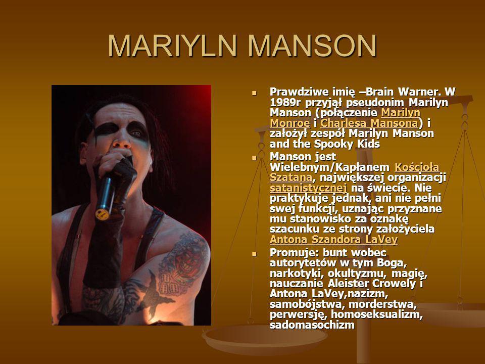 MARIYLN MANSON