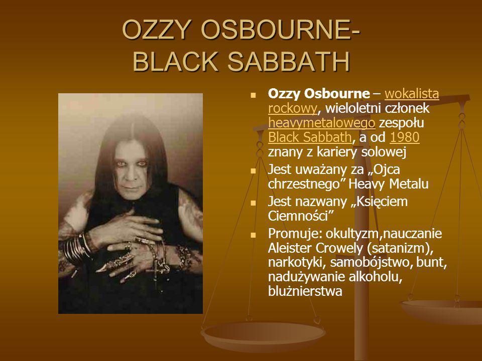 OZZY OSBOURNE- BLACK SABBATH