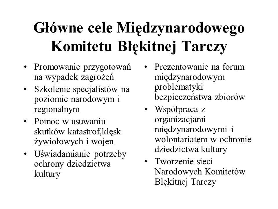 Główne cele Międzynarodowego Komitetu Błękitnej Tarczy