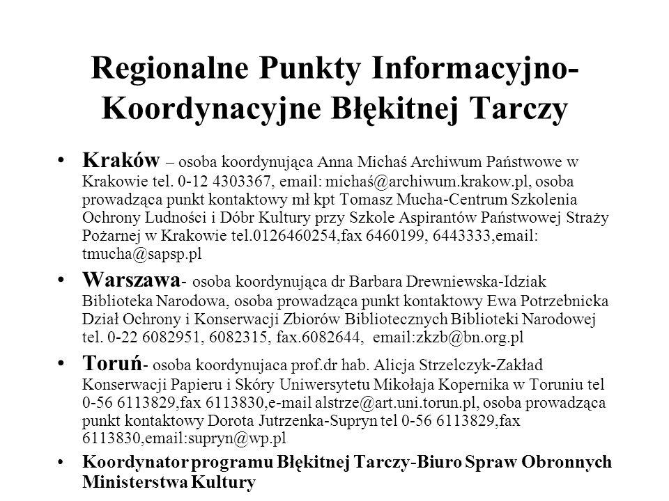 Regionalne Punkty Informacyjno-Koordynacyjne Błękitnej Tarczy