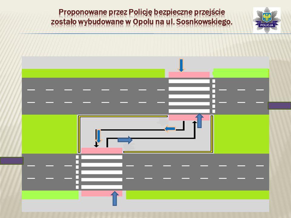 Proponowane przez Policję bezpieczne przejście zostało wybudowane w Opolu na ul. Sosnkowskiego.