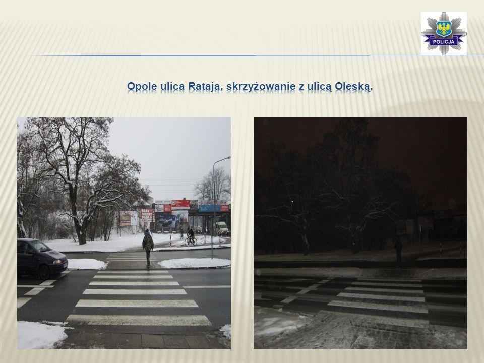 Opole ulica Rataja, skrzyżowanie z ulicą Oleską.