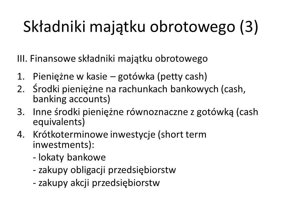 Składniki majątku obrotowego (3)