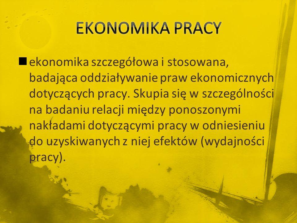 EKONOMIKA PRACY