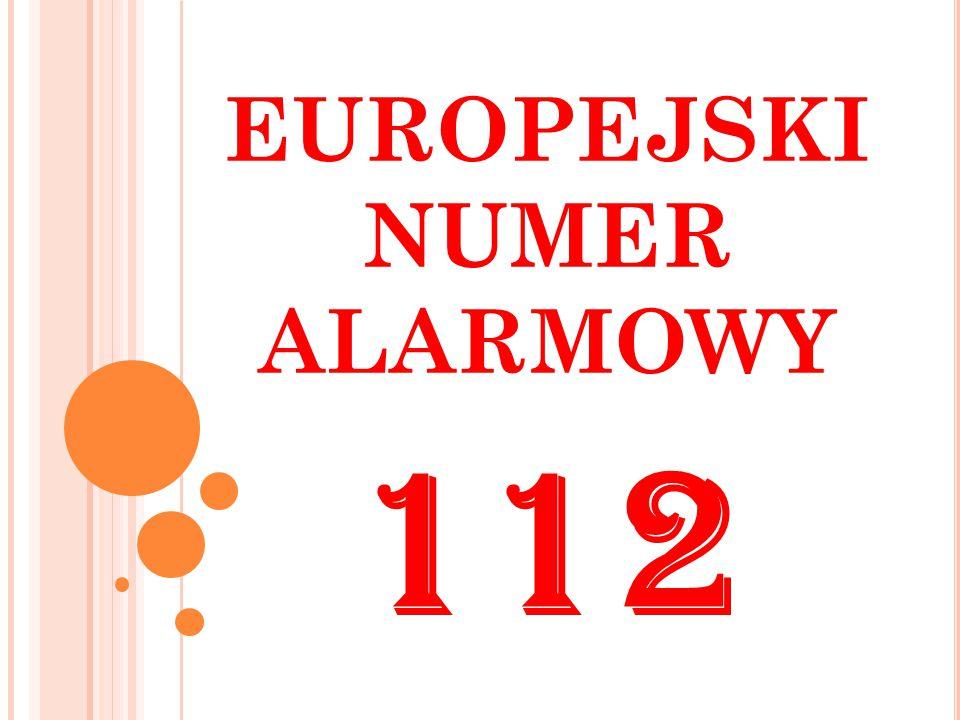 EUROPEJSKI NUMER ALARMOWY