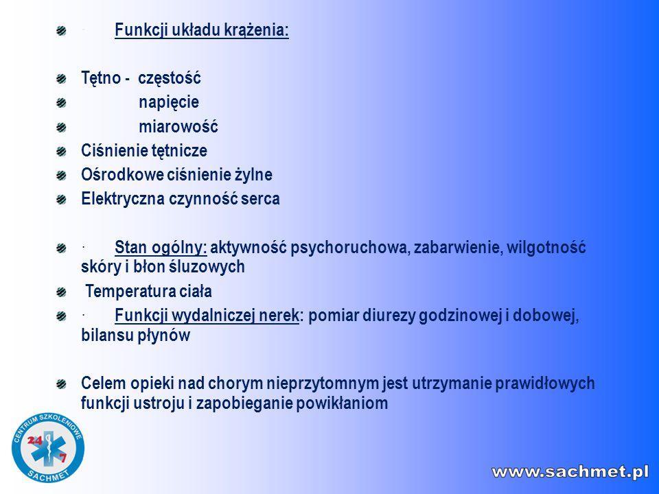 · Funkcji układu krążenia: